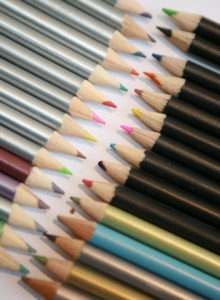 colour sequenced crayons. family photos